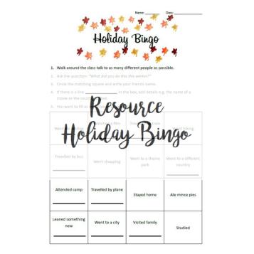 Resource - Holiday Bingo