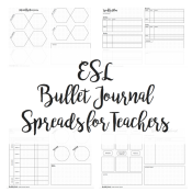 ESL - Bullet Journal Spreads for Teachers