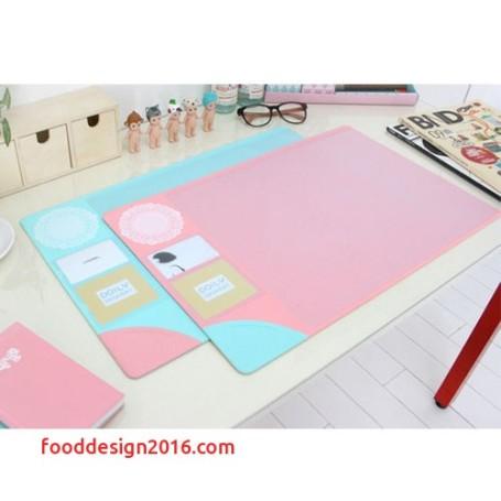 cute desk pad New Doily Desk Mat Nonslip Pad Waterproof Table Desk Organizer Korean