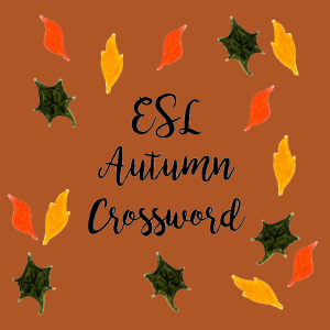 ESL Autumn Crossword